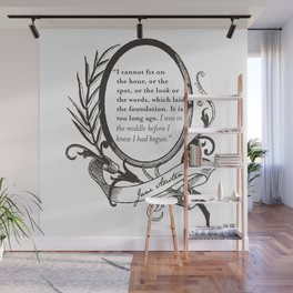 """Jane Austen """"In the Middle"""" Wall Mural"""