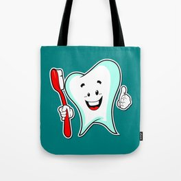 Dental Care happy Tooth with Toothbush Tote Bag