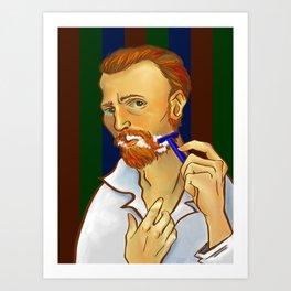 Vincent van Gogh Loves Shaving Art Print