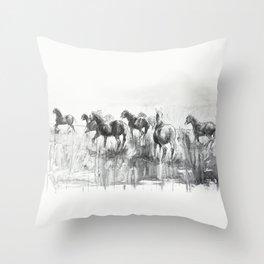 Equine Life 2 Throw Pillow