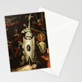 The little knight by Heironymus Bosch Stationery Cards