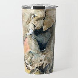 Mom and Baby Elephant Travel Mug