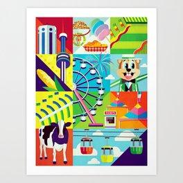 Minnesota State Fair Art Print