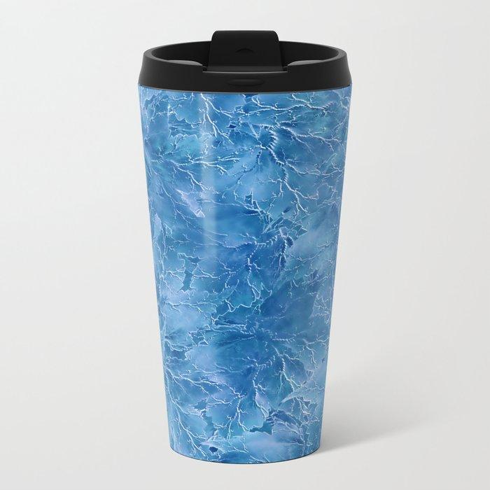 Frozen Leaves 18 Metal Travel Mug
