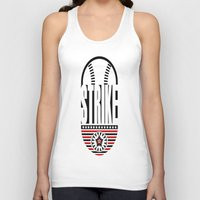 baseball Tank Tops featuring BASEBALL  by Robleedesigns