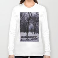 central park Long Sleeve T-shirts featuring Central Park by Leah Moloney Photo