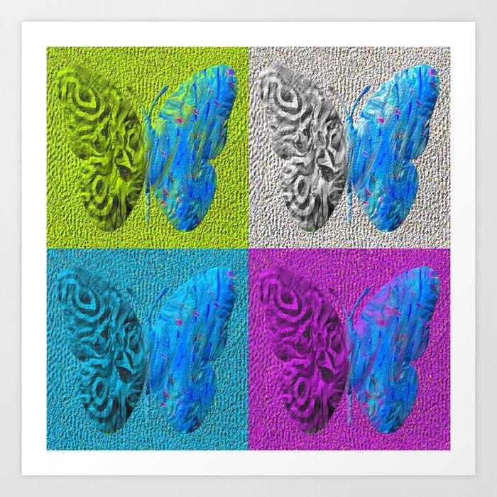 four butterfly Art Print