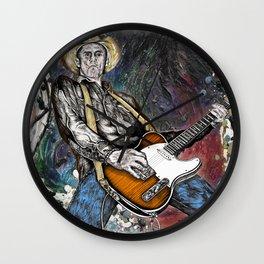 Country Rock Guitar Wall Clock