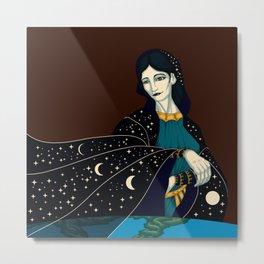 Nyx - Goddess of the Night Metal Print