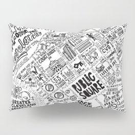 Cleveland Ohio Map Pillow Sham