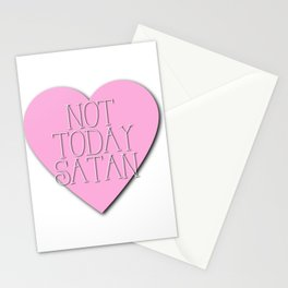 Not Today, Satan Stationery Cards