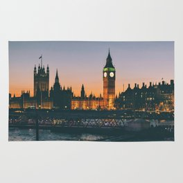 London during Sunset on the Water Rug