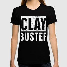 Clay Buster | Shotgun & Skeet Shooting Design T-shirt