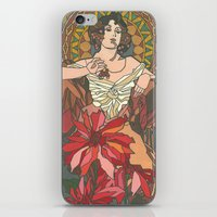 mucha iPhone & iPod Skins featuring Alphonse Mucha by katrinefor