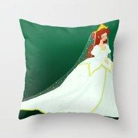 ariel Throw Pillows featuring Ariel by Delucienne Maekerr