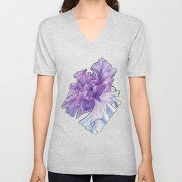 Lace Iris Unisex V-Neck