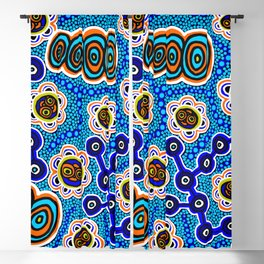 Authentic Aboriginal Art - Yugarabul Gathering by the River Blackout Curtain