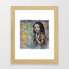 One wish Goldfish Framed Art Print