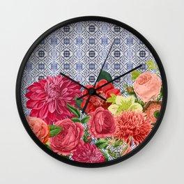 Floral Moroccan Wall Clock