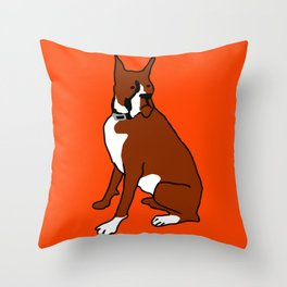 The cool boxer Throw Pillow