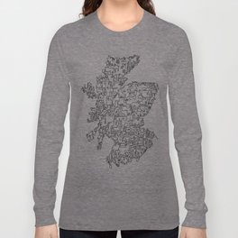 Scotland in one continuous line Long Sleeve T-shirt