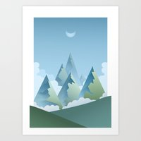 Day Mountainside Art Print