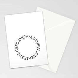 Dream Believe Create Succeed Pt 2 Stationery Cards