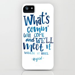 Wise Words of Hagrid iPhone Case