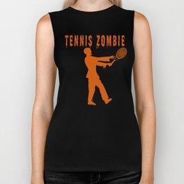 Funny Halloween Tennis Zombie Biker Tank