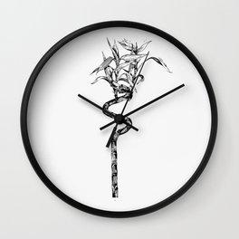 Vintage Lucky Bamboo Wall Clock