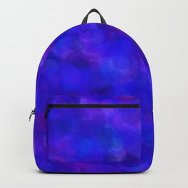 Ultramarine Blue with Purple Pattern Backpack