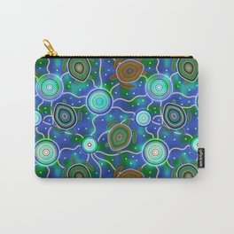 Sea turtles and jellyfish. Australian Aboriginal Art Carry-All Pouch