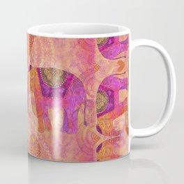 Elephants in Love Heart Art Coffee Mug
