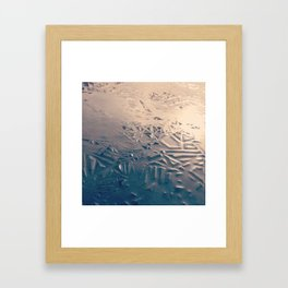 Melting Ice Framed Art Print
