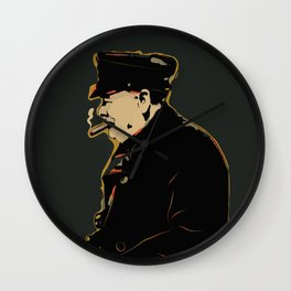 Winston Churchill Pop Art Quote Wall Clock