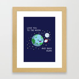 Love You to the Moon and Back Again Framed Art Print