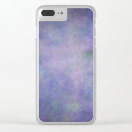 Abstract Soft Watercolor Gradient Ombre Blend 3 Purple Blue and Green Clear iPhone Case