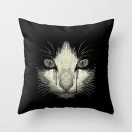 Weeping Cat Throw Pillow