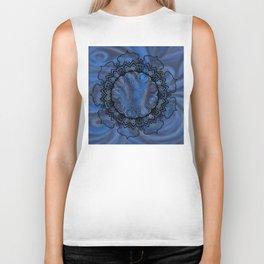 Water Swirl Mandala Biker Tank