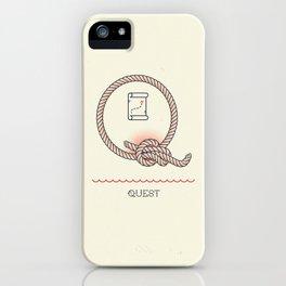 Ahoy! Letter Q iPhone Case