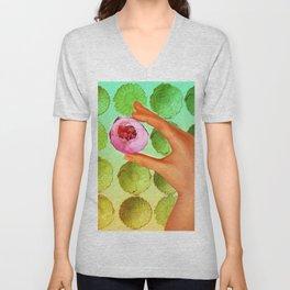 Flower Pop Unisex V-Neck