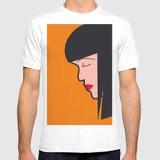 Pop Icon - Mia White Mens Fitted Tee MEDIUM