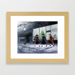 The weather outside is frightful Framed Art Print
