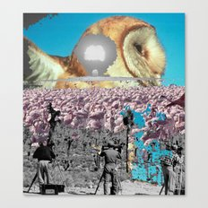 Owl and other things Canvas Print