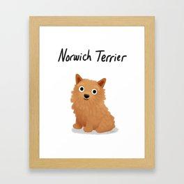 Norwich Terrier - Cute Dog Series Framed Art Print