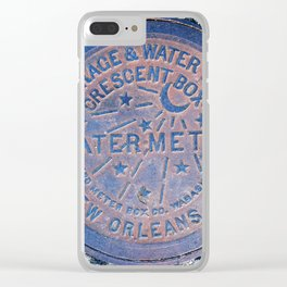 New Orleans Water Meter Clear iPhone Case