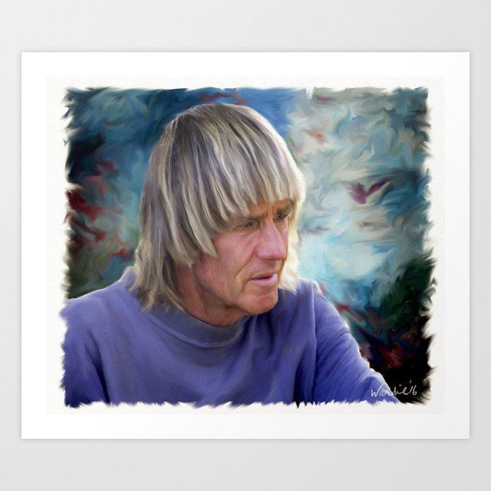 George Greenough portrait 2015 Art Print
