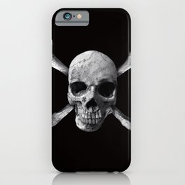 Jolly Roger - Black and White iPhone Case