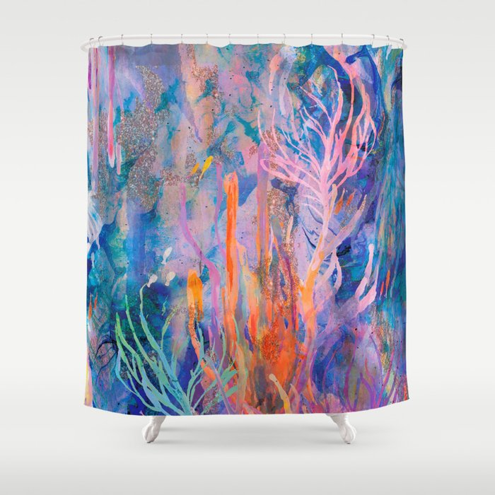 Coral reef shower curtain by nikkistrange society6 for Coral reef bathroom decor