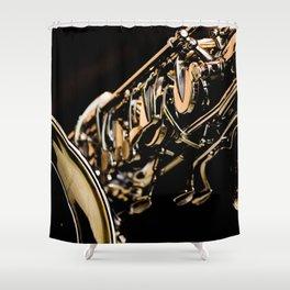 Musical Gold Shower Curtain